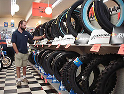 Motorcycle tires at Doc's